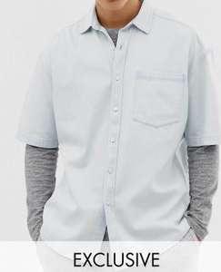 Выбеленная мужская джинсовая рубашка Collusion (размеры от XXS до L)