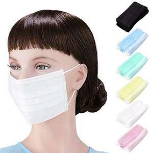 Защитная одноразовая маска для лица (100 шт.)