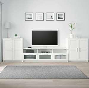 Бримнэс Шкаф для ТВ, комбинация, белый, 336x41x95 см