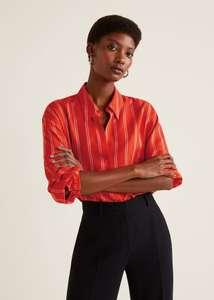 Рубашка в полоску Fluff для женщин от Mango (размеры от XS до XL)
