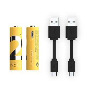 Аккумуляторы Rombica NEO X2 (AA, 1600 мАч, Li-pol, 2шт), при покупке от 2шт - 608₽