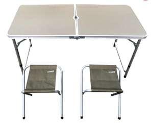 Набор д/пикника Actiwell зеленый, складной стол и 4 стула FSET-01