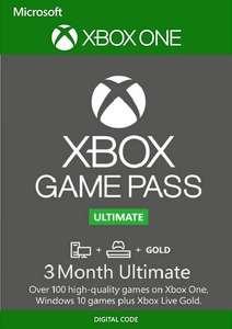 [Xbox, PC] Подписка Xbox Game Pass Ultimate на 3 месяца