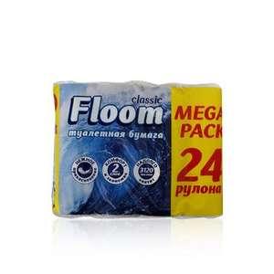 Туалетная Бумага Floom 2х-слойная 24шт