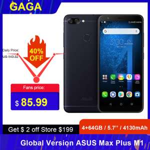 ASUS ZenFone Max Plus M1 5.7'' 4/64 GB 4130mAh за $83.99