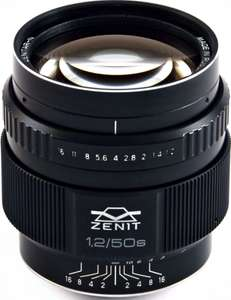 Объектив Зенит Зенитар 1.2/50 S байонет Nikon F