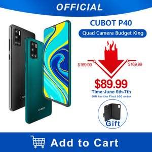 [6.06] Смартфон Cubot P40 4+128Гб (NFC, 4 камеры, Android 10)