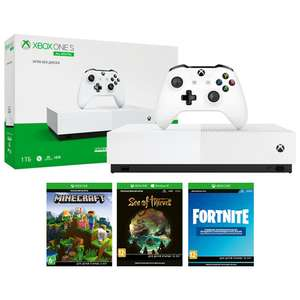 Xbox One S 1Tb All-Digital + Sea of Thieves, Minecraft, Fortnite