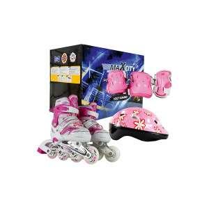 Ролики детские MaxCity Volt Combo с комплектом защиты (размеры 27-30, 31-34)