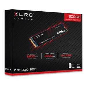 SSD диск PNY M.2 XLR8 CS3030 500 Гб PCIe Gen3x4