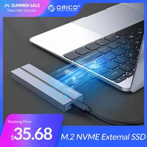 Внешний SSD ORICO 128 ГБ за $31.68