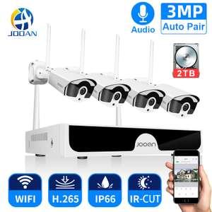 Система видеонаблюдения включая 4 3-хмегапиксельные Wifi IP камеры и регистратор