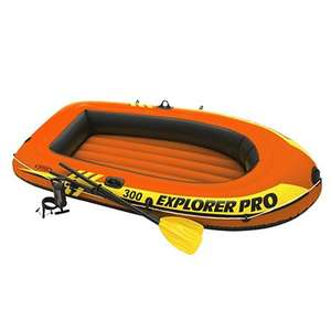 Лодка надувная INTEX Explorer 300, 211x117x41 см, до 186 кг, насос/весла от 6 лет