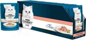 """Консервы для кошек Gourmet """"Perle"""", мини-филе с лососем, 85 г, 24 шт"""