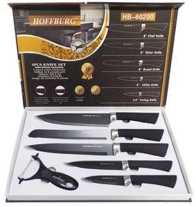 """Набор кухонных ножей """"Hoffburg"""", цвет: черный, 6 предметов, HB-60200"""