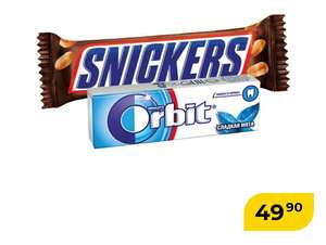 Snickers + Orbit